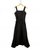 Ameri()の古着「BIG POCKET STITCH DRESS」|ブラック
