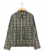 GAIJIN MADE(ガイジンメイド)の古着「チェックジップアップジャケット」|グリーン