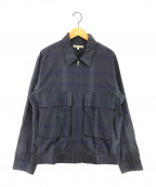 GAIJIN MADE(ガイジンメイド)の古着「チェックジップアップジャケット」|ネイビー