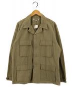 ()の古着「BDUシャツジャケット」 グリーン
