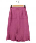 kei shirahata(ケイシラハタ)の古着「裾フレアスカート」 パープル