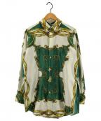 TOGA ARCHIVES(トーガ・アーカイブス)の古着「スカーフデザインシャツ」|グリーン×ホワイト