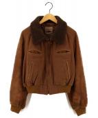 ()の古着「切替ジャケット」|ブラウン
