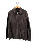 Paul Smith London(ポールスロンドン)の古着「シープスキンレザージャケット」 ブラック