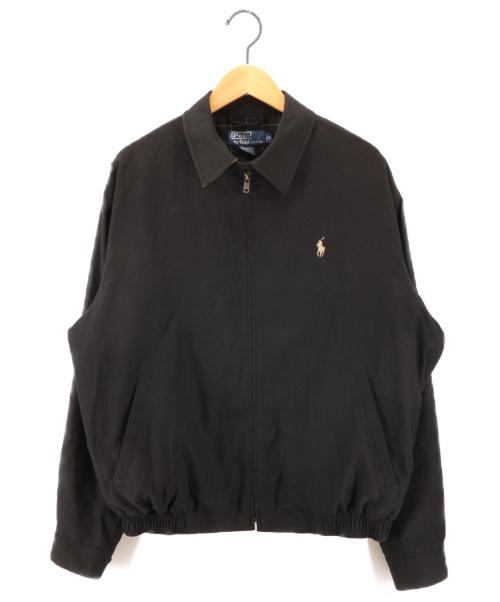 POLO RALPH LAUREN(ポロ・ラルフローレン)POLO RALPH LAUREN (ポロラルフローレン) スイングトップ ブラック サイズ:Mの古着・服飾アイテム