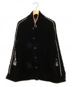 blackmeans(ブラックミーンズ)の古着「般若心経ベロアジャケット」|ブラック