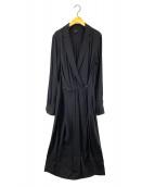 ()の古着「Dean Button Waist Midi Dress」|ネイビー