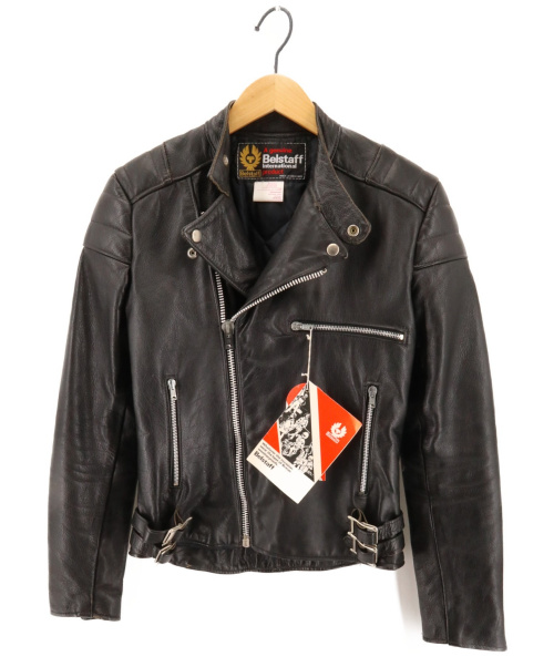 BELSTAFF(ベルスタッフ)BELSTAFF (ベルスタッフ) ヴィンテージレザージャケット 70-80年代 イングランド製 ブラック サイズ:36の古着・服飾アイテム