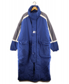 BEAMS×STARTER(ビームス×スターター)の古着「コラボ中綿コート」|ブルー