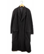 A.A.R YOHJI YAMAMOTO(エーエーアール ヨウジヤマモト)の古着「チェスターコート」|ブラック