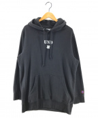 UNDEFEATED(アンディフィーテッド)の古着「UND ICON PULLOVER HOOD」|ブラック