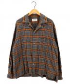 KIIT(キート)の古着「チェックシャツ」|グレー×ブラウン