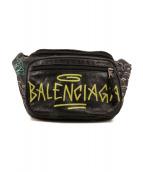 BALENCIAGA(バレンシアガ)の古着「エクスプローラー グラフィティ ベルトバッグ」|ブラック