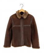 OWEN BARRY(オーエンバリー)の古着「ムートンジャケット」|ブラウン