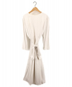 CELFORD(セルフォード)の古着「ウエストリボンワンピース」|ホワイト