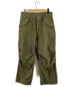 WINFIELD MFG(ウィンフィールド)の古着「[古着]M-65ミリタリーパンツ フィールドパンツ」 オリーブ