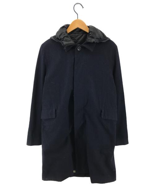 UNDERCOVERISM(アンダーカバーイズム)UNDERCOVERISM (アンダーカバーイズム) C/Wツイルライナー付ステンカラーコート ネイビー×ブラック サイズ:2の古着・服飾アイテム