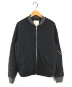 ()の古着「ウールジャージMAー1ブルゾン」|ブラック
