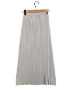 PLEATS PLEASE(プリーツプリーズ)の古着「プリーツロングスカート」|グレー