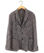 LARDINI()の古着「3Bコットンリネンサマージャケット テーラードジャケット」 グレー