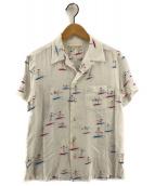WACKO MARIA(ワコマリア)の古着「サーファーガール柄レーヨンアロハシャツ オープンカラーシャツ」|ホワイト