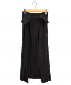 ISSEY MIYAKE FETE(イッセイミヤケフェット)の古着「デザインプリーツスカート」 ブラック