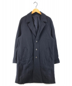()の古着「ウールチェスターコート」|ネイビー