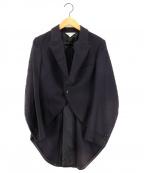 ROBE DE CHAMBRE COMME DES GARCONS(ローブドシャンブル コムデギャルソン)の古着「ジャガードデザインモーニングコート」|ネイビー