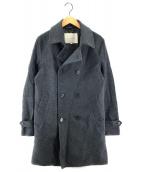 ()の古着「ウールベルテッドコート」|グレー