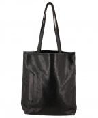 aniary(アニアリ)の古着「スケイルレザー型押しトートバッグ」|ブラック