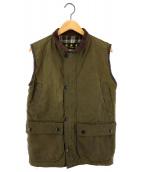 Barbour(バブアー)の古着「[古着]ヴィンテージワックスコットオイルドベスト」|グリーン