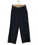leno(リノ)の古着「Wide Chino Trousers コットンチノパン」|ネイビー