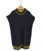 Maison Margiela 1(メゾンマルジェラ 1)の古着「アランニットベスト」|ブラック