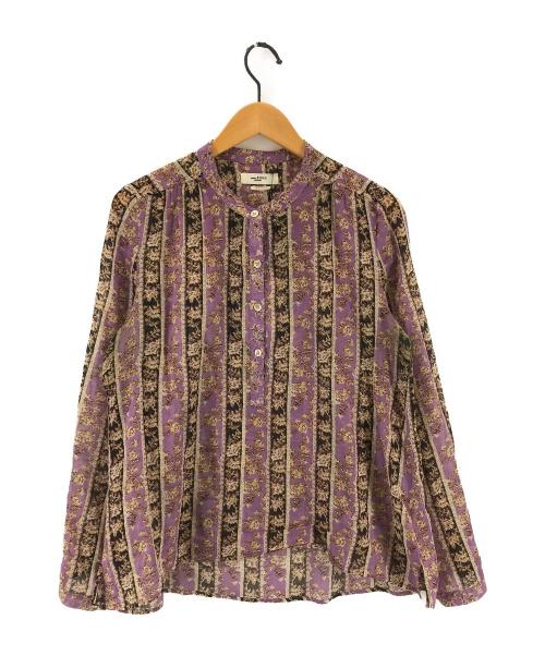 ISABEL MARANT ETOILE(イザベルマランエトワール)ISABEL MARANT ETOILE (イザベルマランエトワール) コットンフラワープリントシャツ パープル サイズ:36 78-01-03-01020の古着・服飾アイテム