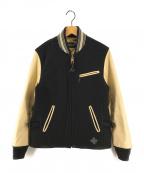 NEIGHBORHOOD(ネイバーフッド)の古着「袖レザースタジャン」|ブラック