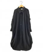 STYLE MIXER(スタイルミキサー)の古着「2WAYボリュームシャツワンピース」 ブラック