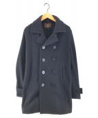 ()の古着「スムースウールプリマ Pコート」|ブラック