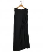 Maison Margiela 4(メゾンマルジェラ4)の古着「GATHERED DRESS ノースリーブワンピース」 ブラック
