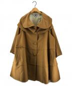 ANREALAGE(アンリアレイジ)の古着「デザインコート」|ブラウン