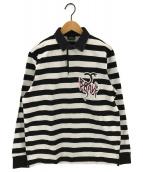 DIESEL(ディーゼル)の古着「STRIPED T-COV-LS POLO 長袖ポロシャツ」|グレー
