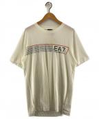 EA7(イーエーセブン)の古着「プリントTシャツ」 アイボリー