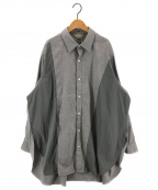 jieda(ジエダ)の古着「SWITCHING LONG SHIRT ロングシャツ」|グレー