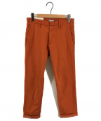 lideal(リディアル)の古着「リラックスアンクル トラウザー チノパン」|オレンジ
