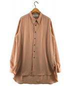 ()の古着「ロングシャツ」|ピンク