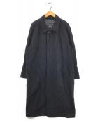 ()の古着「ウールステンカラーコート」|ネイビー