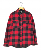 NIKE SB(ナイキエスビー)の古着「バッファローチェックフランネルシャツ」|レッド×ブラック