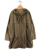 DIESEL(ディーゼル)の古着「リネン混ドッキングモッズコート」|ブラウン