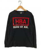 Hood By Air(フッドバイエアー)の古着「ロゴプリントTシャツ」 ブラック