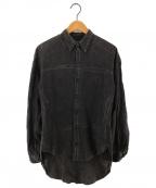 NEMETH(ネメス)の古着「ペンキデザインシャツ」|グレー