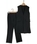 Mila Owen(ミラオーウェン)の古着「ノーカラージレセットアップ」|ブラック